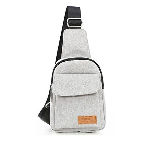 CLOTHES- Traversa obliqua trasversale della spalla Moda libera di svago di modo Uomo LEuropa ed il sacchetto di cassa degli Stati Uniti ( Colore : Nero ) Bianco