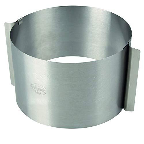 Dr. Oetker Tortenring KÜCHENHELFER PROFI, extra hocher verstellbarer Küchenhelfer von 16-30cm, Backzubehör zum Schichten oder Füllen von Torten, Backhelfer aus Edelstahl (Farbe: Silber) Menge: 1 Stück