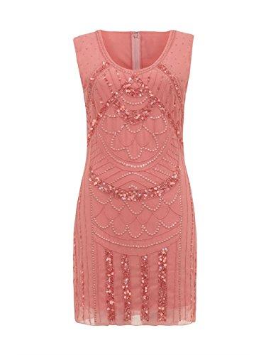 Love Camden Damen Kleid Kleid orange korallenrot Einheitsgröße Gr. 34, (Kleid Orange Flapper)