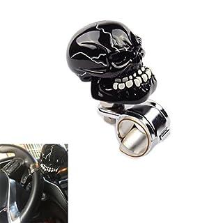 AutoBoy Human Bone Skull Car Steering Wheel Spinner Knob Power Handle Assist Ball Knob Fit For Car Vehicle(Black)