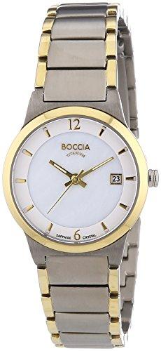 Boccia 3223-02-Women's Quartz Analogue Watch-Titanium Bracelet