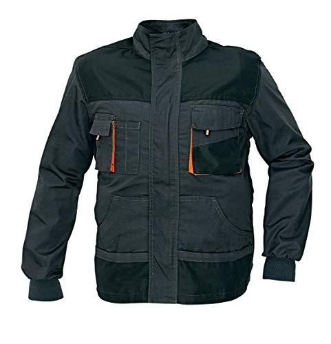 Stenso Emerton® - Chaqueta de Trabajo Multiusos - Durable - Gris Oscuro/Negro / Naranja 60