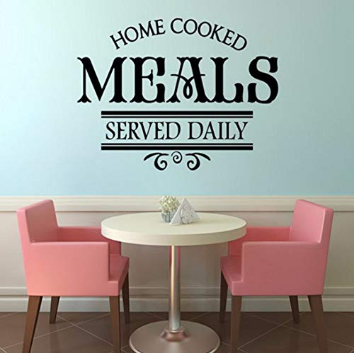 Pbldb 57X44 Cm Hausgemachte Mahlzeiten Serviert Täglich Restaurant Wandaufkleber Küche Wanddekor Aufkleber Vinyl Abnehmbare Wandtattoos Einfache ()