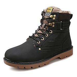 418SdLkKqQL. SS300  - Zapatillas de Hombre de BaZhaHei, Además, Las Botas para Hombre de Invierno Retro de Terciopelo, Antideslizantes, Resistentes al Desgaste para Exteriores, Son Grandes Zapatos para Herramientas