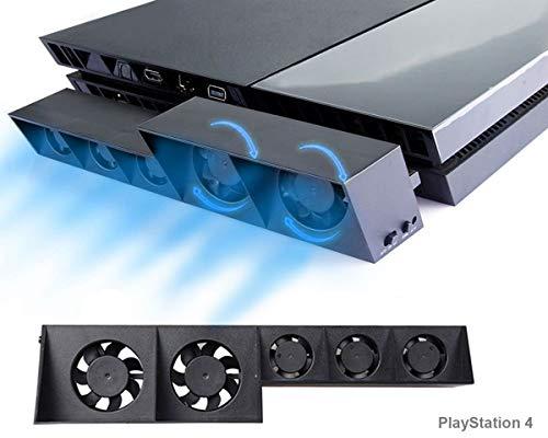 PS4 Turbo Lüfter Ventilator Kühler, Externe Kühlgebläse USB Cooling Fan Cooler, Auto Luftzirkulation Kühlung Schutz Kühlventilator mit automatischem Temperatursensor für PlayStation 4 -