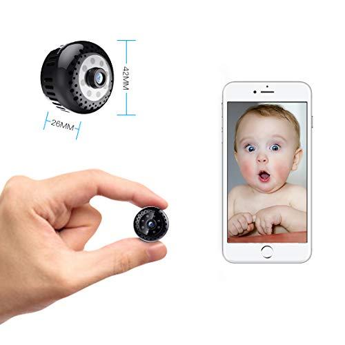 Mini Microcamere Spia,Kincam HD1080P Spia Videocamera nascosta Microcamera Videocamera Interno telecamera di sorveglianza con Visione notturna/Rilevamento del movimento di Interno Per Iphone Android - 3