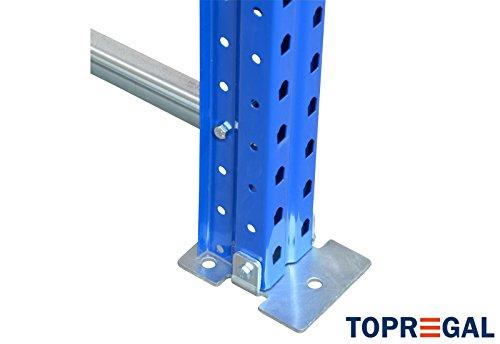 Palettenregal Industrieregal 7,6m breit, 3m hoch, 110cm tief, 3 Ebenen – Hochregal Schwerlastregal - 4
