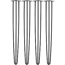 Hartleys Lot De 4 Pieds De Table Epingle A Trois Tiges - Choix De Couleur, Longueur & Epaisseur