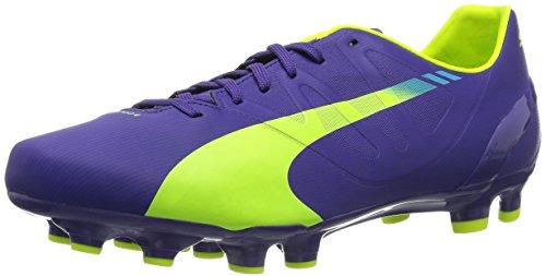 Preisvergleich Produktbild Puma evoSPEED 4.3 FG, Herren Fußballschuhe, Violett (prism violet-fluro yellow-scuba blue 01), 45 EU (10.5 Herren UK)