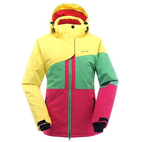 SAENSHING Frauen Skijacke wasserdichte Bergjacke Winddicht Snowboard Jacke(M,gelb)