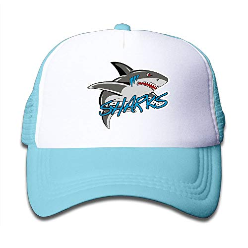 Nizefuture Great White Shark Mesh Baseball Cap Kid Boys Girls Adjustable Golf Trucker Hat (Oakley Golf Boys)