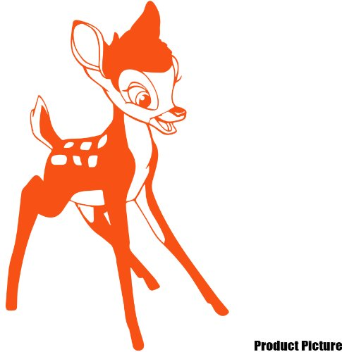 Disney Bambi Aufkleber 30 cm x 20 cm Farbe wählen 18 Farben auf Lager Childs Schlafzimmer, Kinder Zimmer Aufkleber, Auto Vinyl-, Windows und Wandtattoo, Wall Windows Art, Decals, Ornament Vinyl Aufkleber von 4printer Orange