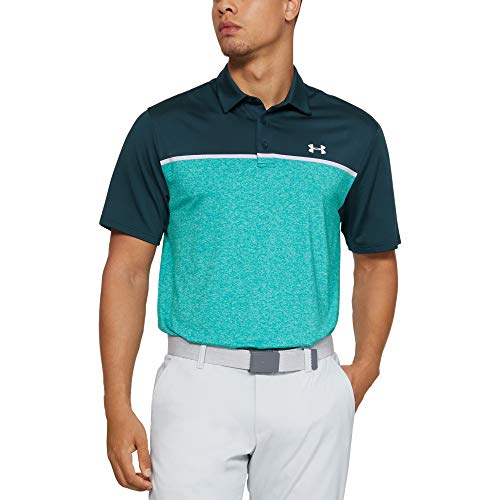 Under Armour Herren Playoff 2.0 Poloshirt, Tandem Teal, 3XL - Under Armour-spiel-tag Grün