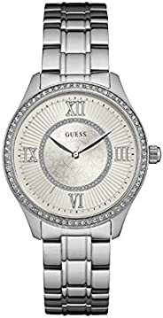 Guess Dress Watch for Women, Stainless Steel, Analog - W0825L1