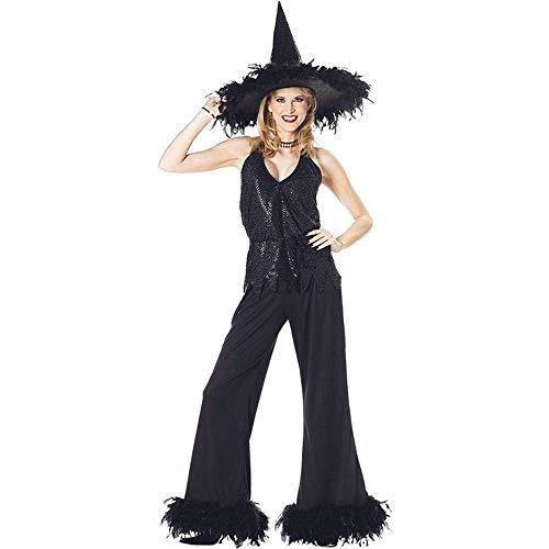 Fashion-Cos1 Gothic Witch Vampire Kostüm Für Erwachsene Frauen Halloween Cosplay Party Wizards Kostüm Rollenspiel Kostüm (Color : Black, Size : ()