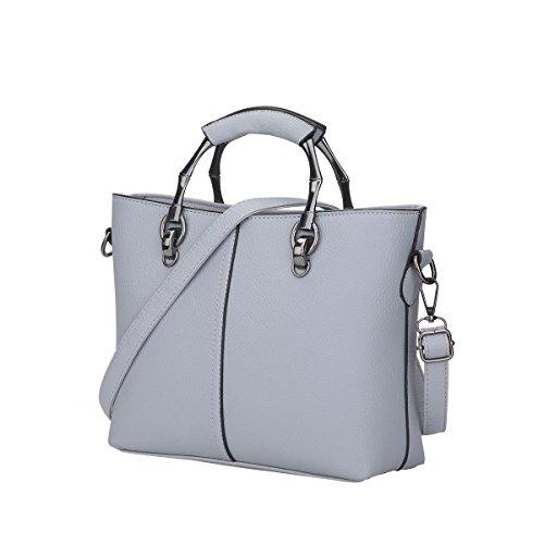 DISSA S849 neuer Stil PU Leder Deman 2018 Mode Schultertaschen handtaschen Henkeltaschen,310×105×210(mm) Grau