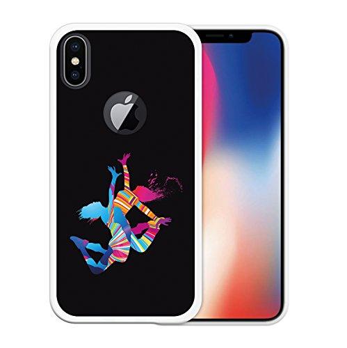 iPhone X Hülle, WoowCase Handyhülle Silikon für [ iPhone X ] Schwarzer Basketballspieler Handytasche Handy Cover Case Schutzhülle Flexible TPU - Schwarz Housse Gel iPhone X Transparent D0017