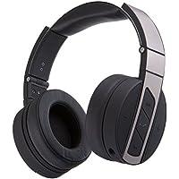 Monoprice Bluetooth Over-Ear auriculares con micrófono integrado–negro/Metal pulido