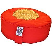 New Om Vita 100% Bio Zafu Meditationskissen mit Mandala Design