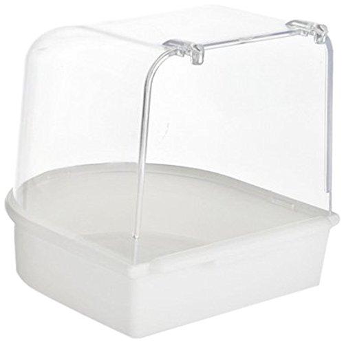 Beeztees 75080 Badehaus aus Plastik, 13 x 13 x 13 cm, weiß
