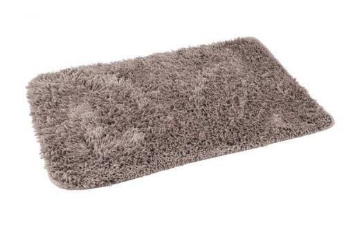 Hochwertiger Badvorleger Badteppich aus Microfaser -Maße:50 x 70cm-A945-BEIGE-ITALY DESIGN