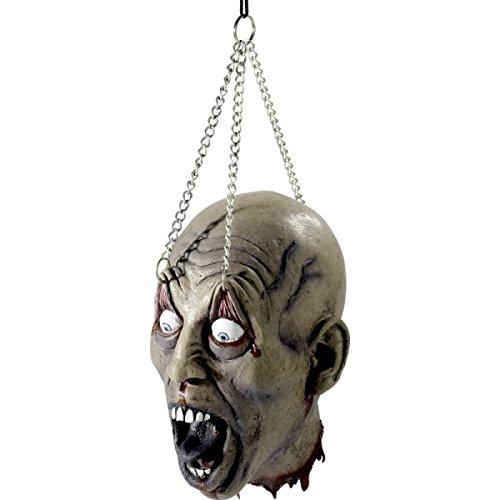 ftes Henkers Opfer an Metallketten Dorfplatz Folter Schocker Halloween Version 2.0 abgetrennter Schädel abgehackter Kopf (Abgetrennter Kopf Halloween)