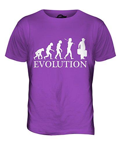 CandyMix Porter Evolution Des Menschen Herren T Shirt Violett