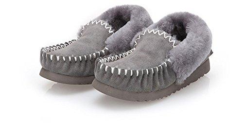 Snow Boots scarpe piatte caldo gray