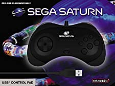 Retrobit - SEGA Saturn manette filaire 8 boutons - Conexion USB - Noire