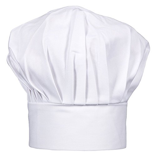vapsintr-poly-cotton-adjustable-white-chef-hat-elastic-cooking-hat-one-size-fits-for-adults-kids