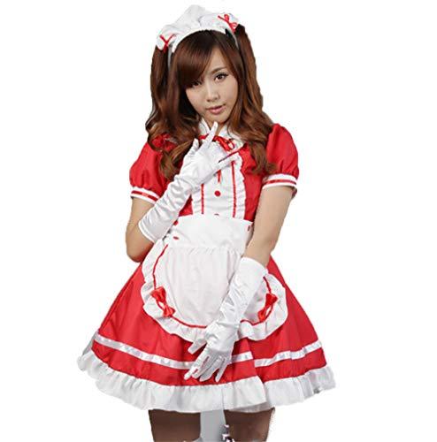 fagginakss Sexy Damen Zimmermädchen Kostüm Zofe French Maid Dienstmädchen Karneval Kleid Nette Frauen Anime Cosplay Französisch Maid Schürze Kostüm (Lace French Maid Sexy Kostüm)