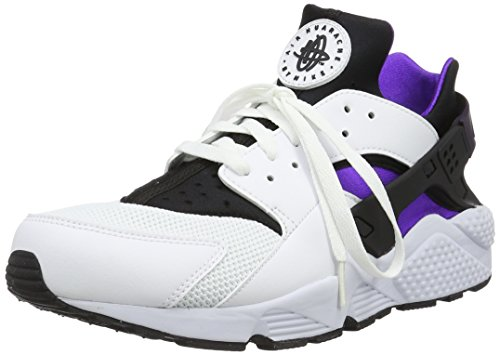Nike Herren Air Huarache Sneakers Blanco (white/hyper grape-black-purple dynasty)