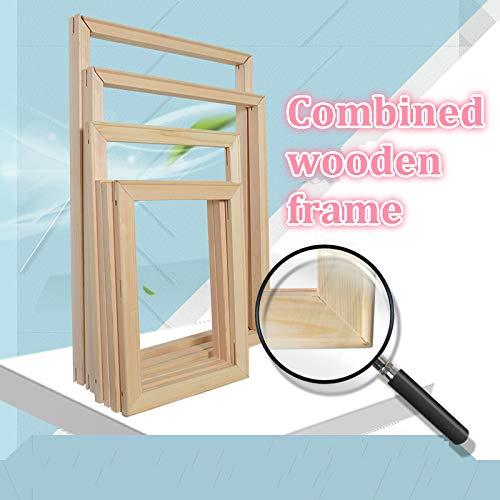 ZYCD Unterstützung Benutzerdefinierte Kombinierte Holz zum Malen nach Zahlen Leinwandmalerei DIY Brauch Jede Größe Bild innen ohne das Gemälde (40*50cm/16*20inch)