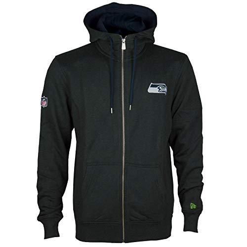 New Era Herren Oberteile/Zip Hoodie Seattle Seahawks Grau S