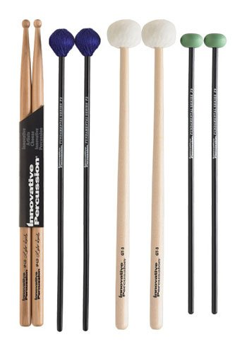 Innovative Percussion FP2 Fundamental Series Intermediate Pack mit Stick Bag Rock Drumsticks Fp2-serie