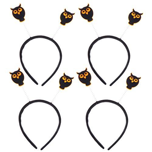 Amosfun 4pcs Eule Stirnbänder Bopper Haarschmuck Kinder Haarreif Haarband für Halloween Party Kostüm (Eule Kostüm Stirnband)
