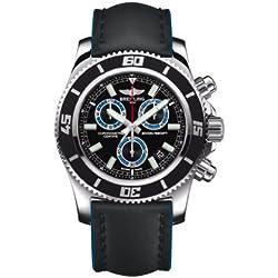 Breitling - Reloj de pulsera hombre, piel, color negro