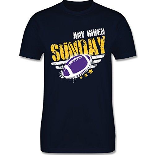 Shirtracer American Football - any Given Sunday Football Minnesota - Herren T-Shirt Rundhals Navy Blau