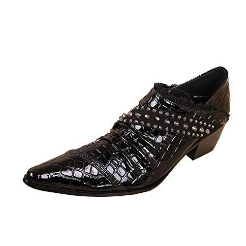 a287b7863a ¥*Shoes Scarpe Oxford da Uomo Casual con Punta in Coccodrillo con Tacco  Basso Resistenti