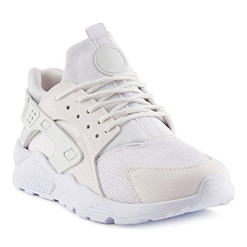 FiveSix Herren Damen Sneaker Sportschuhe Laufschuhe Freizeitschuhe Textilschuhe Camouflage Schnürschuhe Low-Top Unisex Schuhe Weiss/Weiss-M EU 42 Jeezy Schuhe