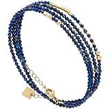 Zag Bijoux Bracelet multirangs Perles Bleues (doré)