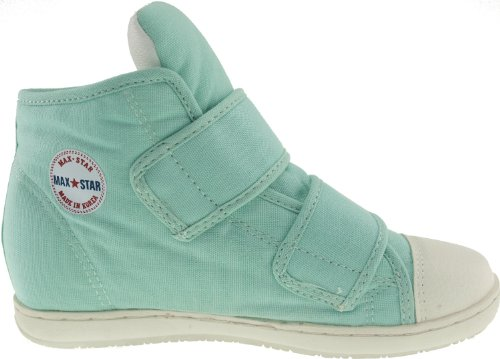 Maxstar  203H-2Band, Chaussons montants femme Turquoise - Vert menthe