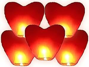 Decorazioni Con Lanterne Cinesi : Generico mongolfiera lanterne cinesi volanti a forma di cuore