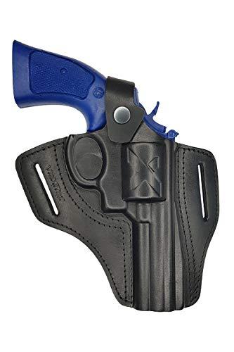 VlaMiTex R4 4 Zoll Lauf Leder Revolver Holster für Smith and Wesson 10 / 19 / 44 /66 (Holster Revolver)