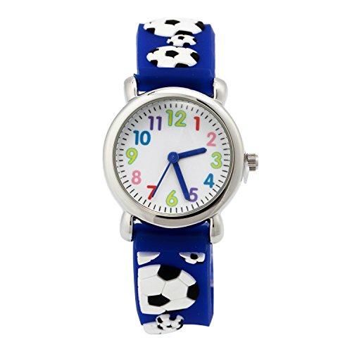 t 3D Cute Cartoon Digital Silikon Armbanduhren Time Teacher Geschenk für kleine Mädchen Jungen Kinder (Kid City Sports)