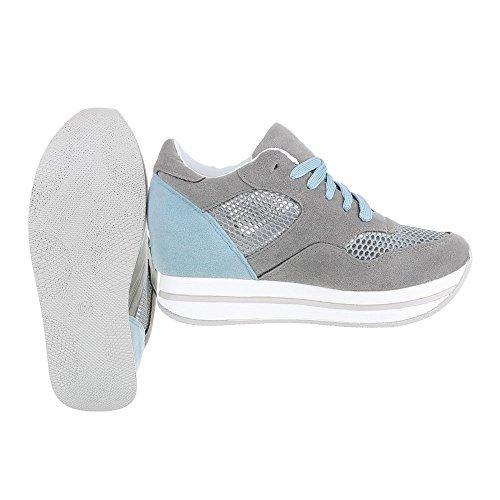 Ital-Design - Pantofole a Stivaletto Donna Grau 6550-Y