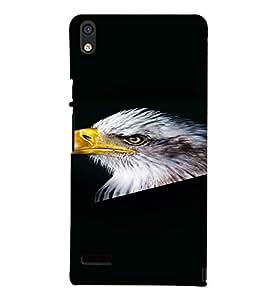 PrintVisa Eagle Bird Design 3D Hard Polycarbonate Designer Back Case Cover for Huawei Acend P6