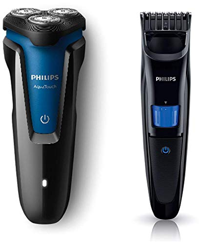 Philips Electric Shaver (S1030/04) & Trimmer (QT4001/15) Combo