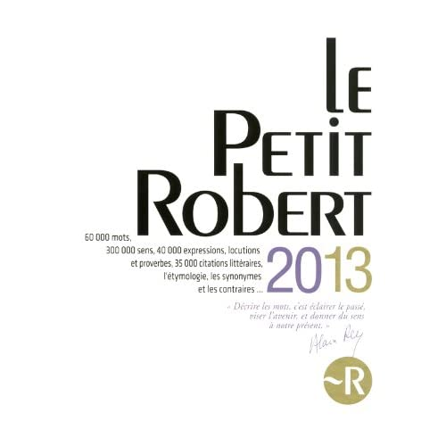 PETIT ROBERT LANGUE FSE 2013