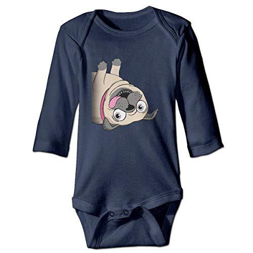 WBinHua Body bébé Body bébé garçon, Best Pug Mom Eve Cute Baby Boys Girls Long Sleeve Onesies Bodysuits